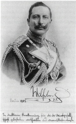 "Kaiser Wilhelm II., photo with personal dedication to James Simon. Source: ""James Simon"", Sammler und Maezen. Staatliche Museen zu Berlin, 2001."