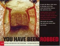 "First-prize winner 2005 ""You have been robbed"" Concept: Donna Yates. Photography: George F. Mobley/National Geographic Image Collection © 2006 SAFE/Saving Antiquities for Everyone, Inc."