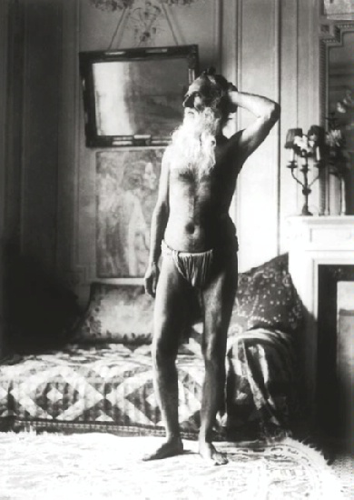 Self-Portrait after fasting, 1930 (Sher-Gil apartment in Paris) Photographby Umrao Singh Sher-Gil, © The Umrao Singh Sher-Gil Estate,  Delhi